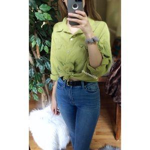 8c2ba21af6dfc Vintage Tops - 🌿 Vintage 90 s True Silk Button Down Top 🌿